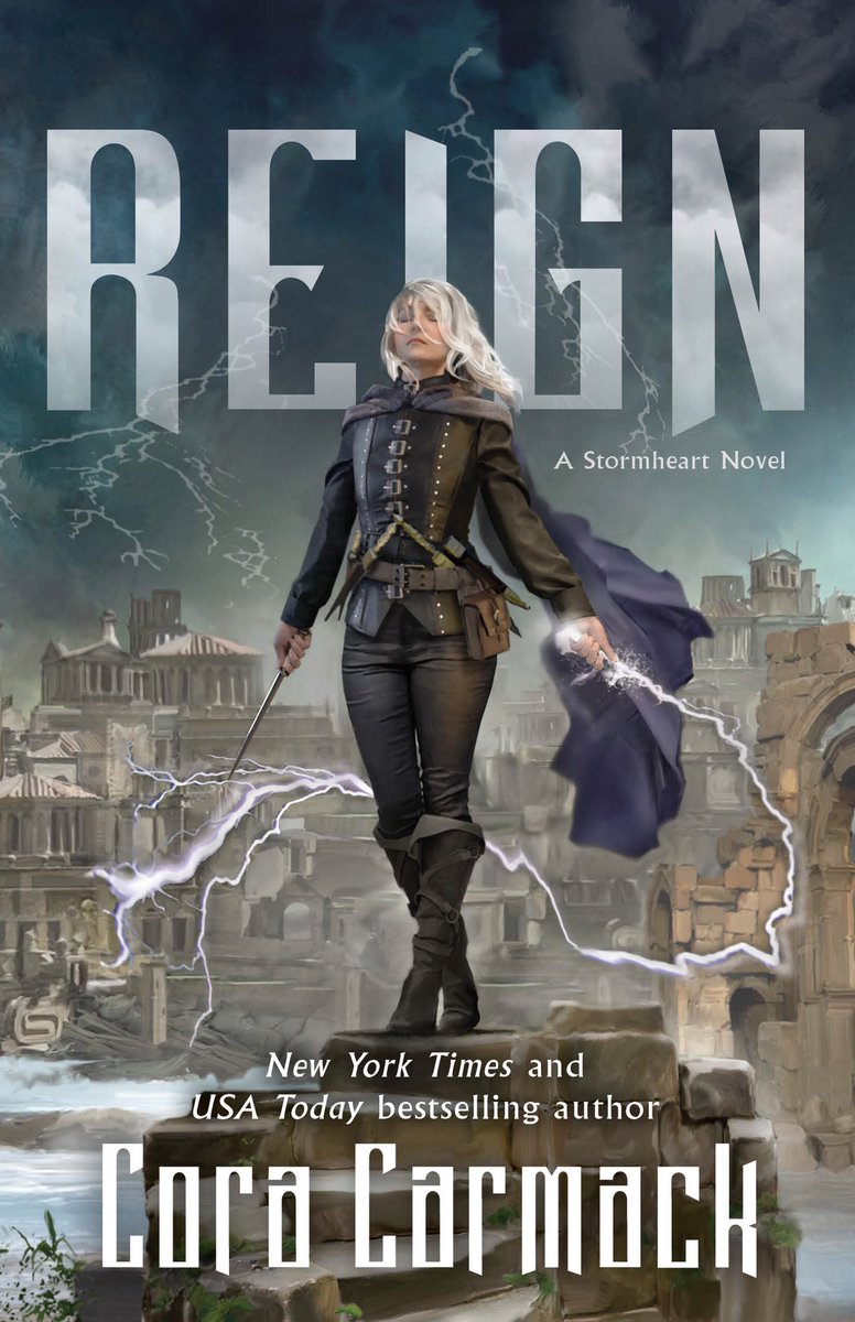 Friends. This is what they call hitting the cover jackpot. I have ADORED every cover in the Stormheart series, but this one is my favorite of all. A LIGHTNING WHIP, Y'ALL. Can we get a round of applause for @torteen and The cover artist John Blumen? 👏🏼👏🏼👏🏼
