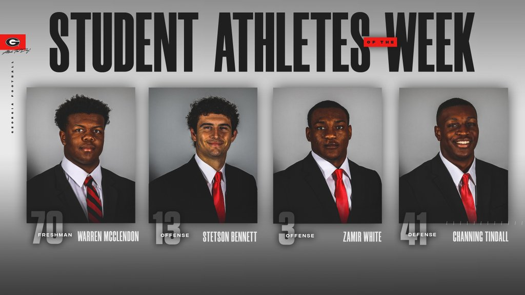 Congratulations to our student-athletes of the week. Go Dawgs !!