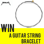Image for the Tweet beginning: Win a guitar string bracelet