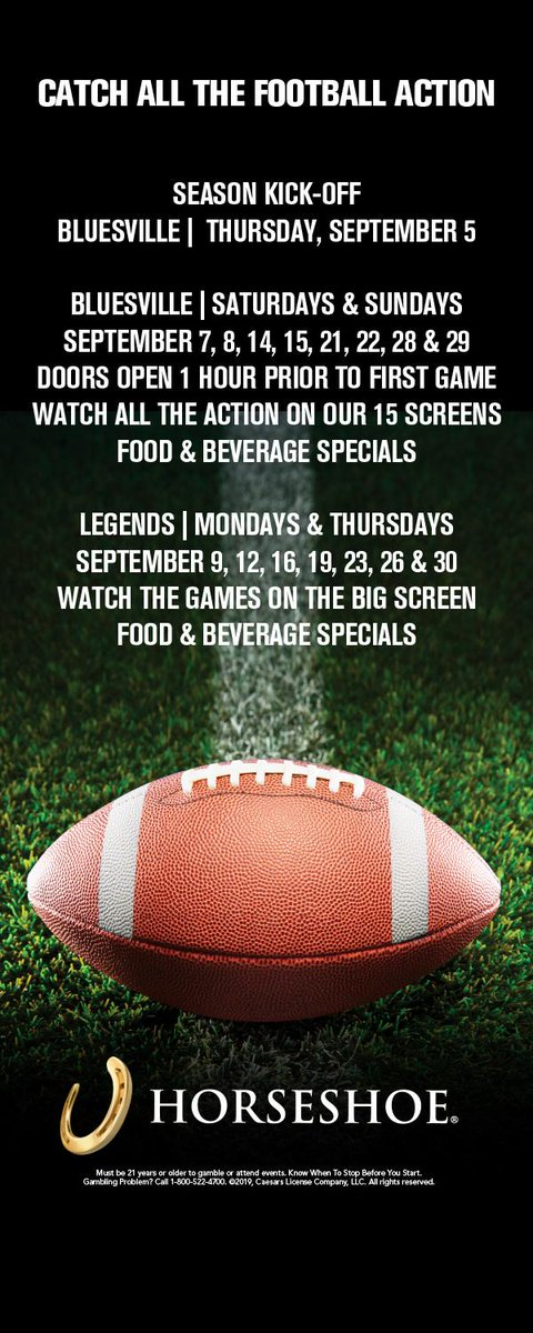 Join us this Saturday and Sunday to watch the biggest games on the largest screens in Tunica! 🏈🏈