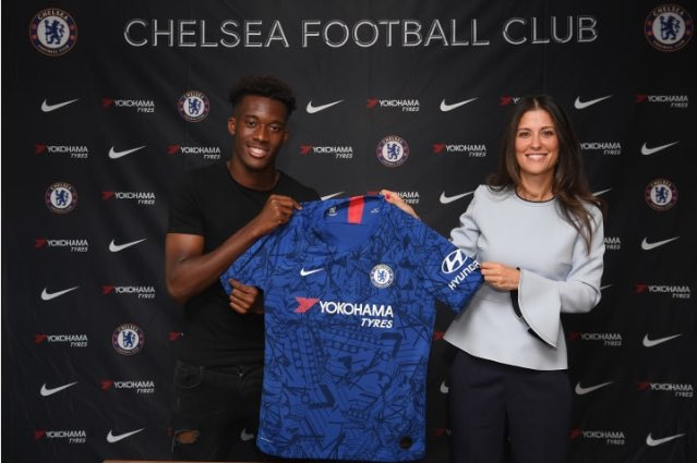 """Hudson-Odoi - """"It's an amazing feeling. It's been a long wait but it's done now and I'm really happy about that. I've been a Chelsea player since I was eight and this is the right club for me to be at."""""""