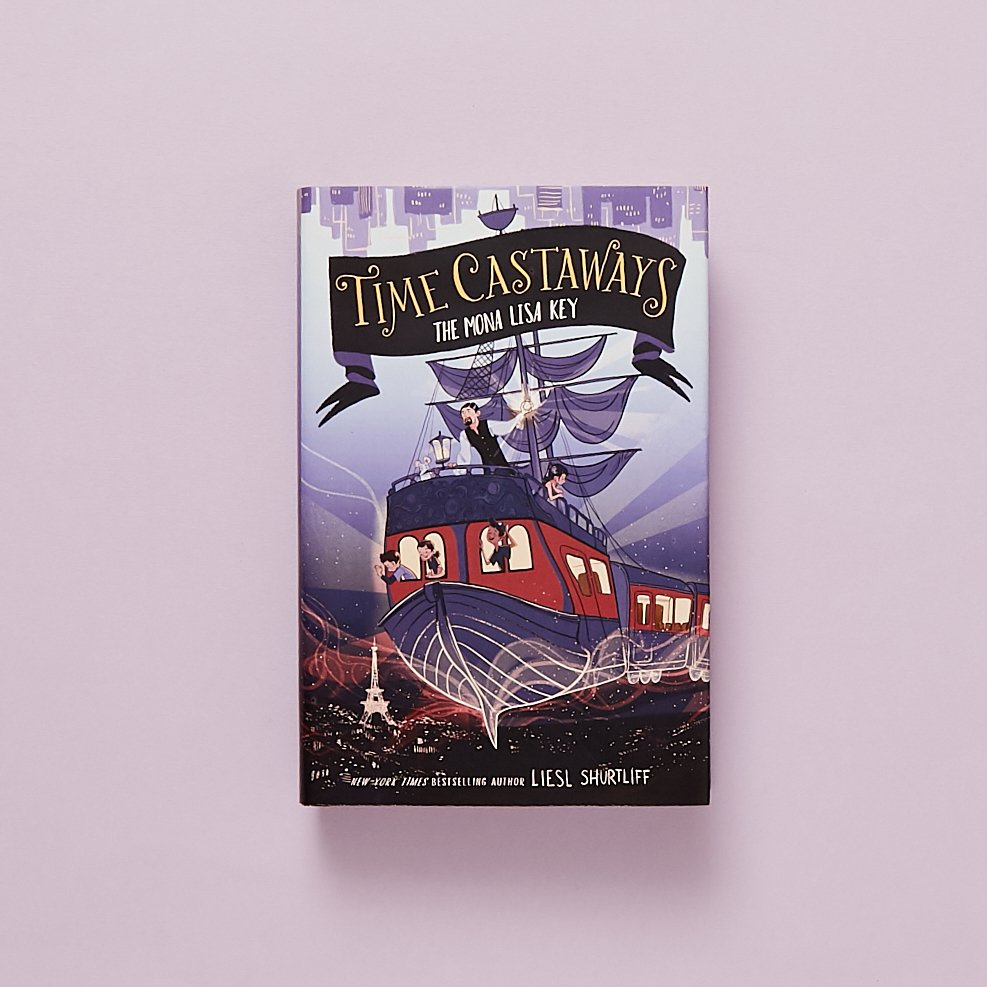 When Mateo, Ruby, and Corey get on the wrong train, they didnt expect to travel across land and time. They land in 1911 France—just in time to be a part of a great art heist. TIME CASTAWAYS #1: THE MONA LISA KEY by @LieslShurtliff—out in paperback! ow.ly/EWp950vWn1O
