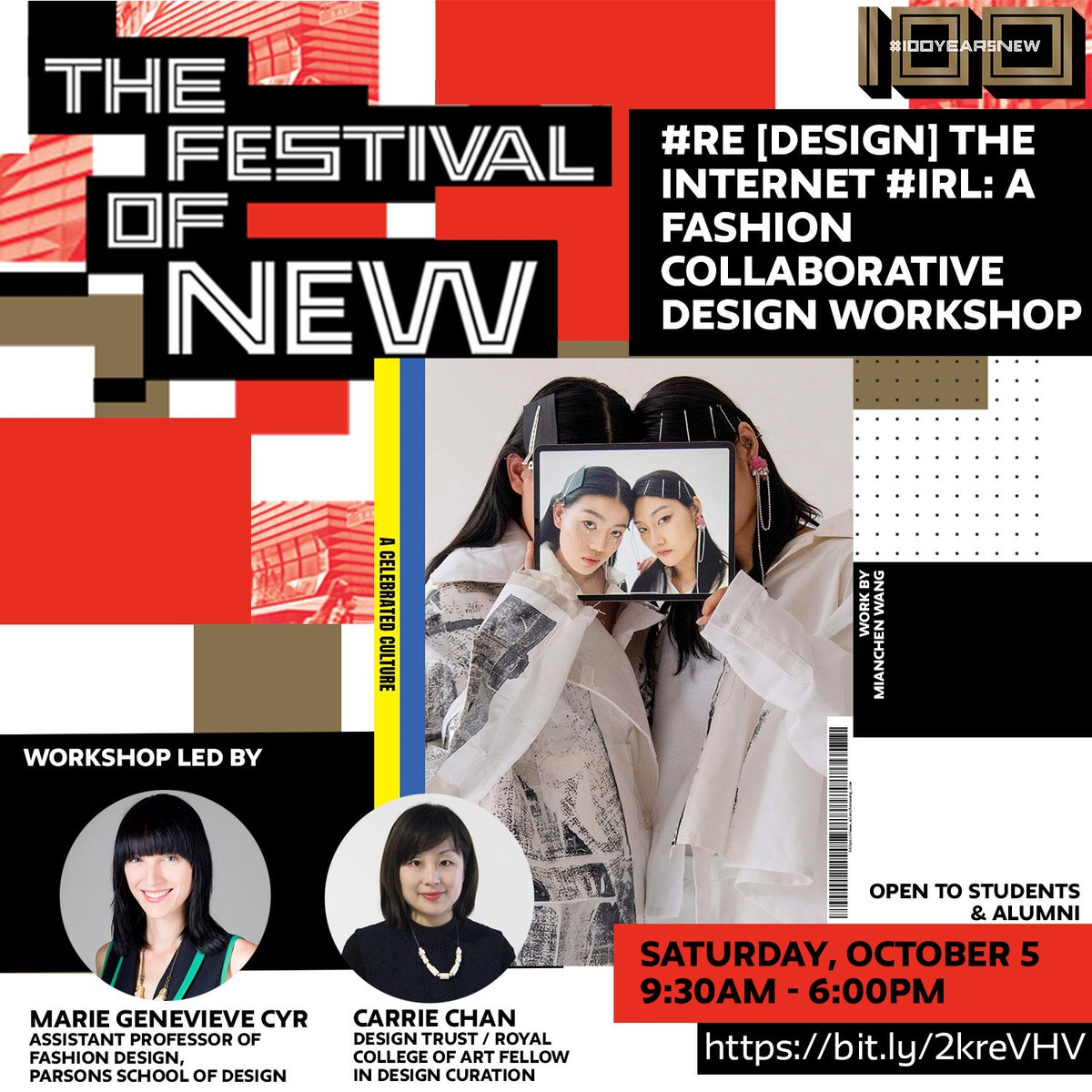 #RE [Design] the internet #IRL: A Fashion Collaborative Design Workshop. Register now: https://t.co/XEZXzfClzb @TheNewSchool @parsonsdesign https://t.co/T53c0UEqTv