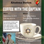 Image for the Tweet beginning: Coffee with the Captain is