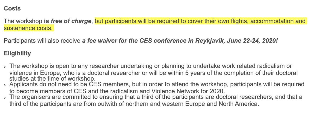 Looks like a fascinating conference...but this must be a definition of free I havent heard before. And for ECRs, money is likely even tighter. #twitterstorians #AcademicTwitter twitter.com/joel_busher/st…