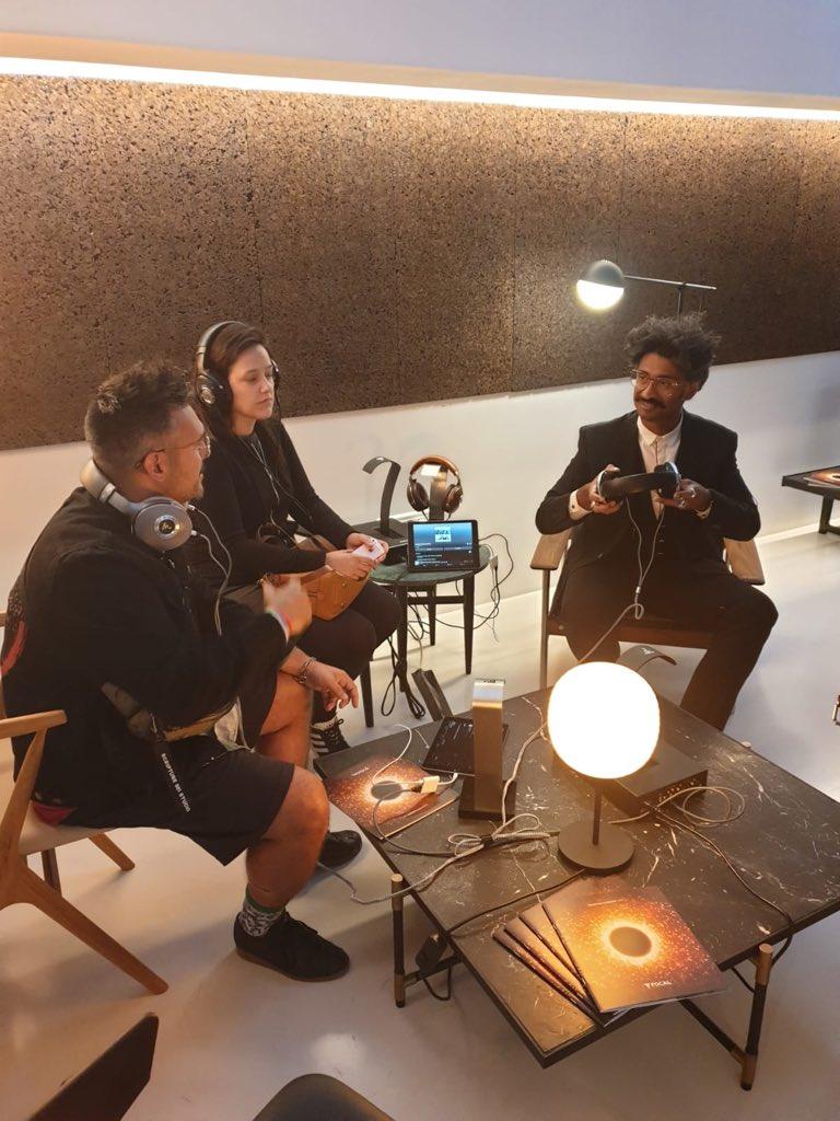 .@sebastienfolin experiencing our #MadeInFrance headphones 🎧 #ListenBeyond https://t.co/oaXzccV85V