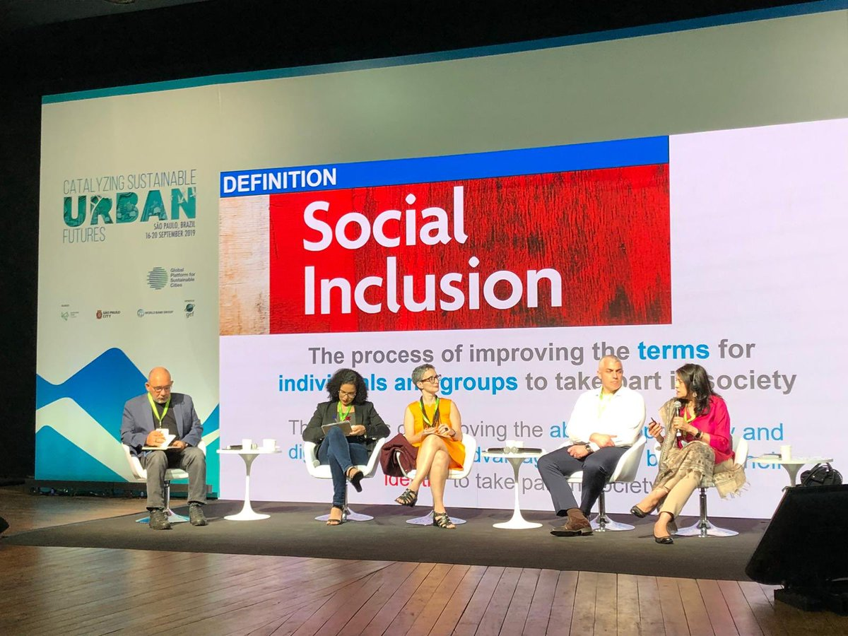 Cities are bastions of opportunity, but they can also be sites of exclusion, especially for the poor and vulnerable women and men.  Discussing #InclusionMatters for urban planning with @DasMaitreyi at #TheGPSC 3rd Global Meeting. http://www.worldbank.org/socialinclusion #SustainableCities
