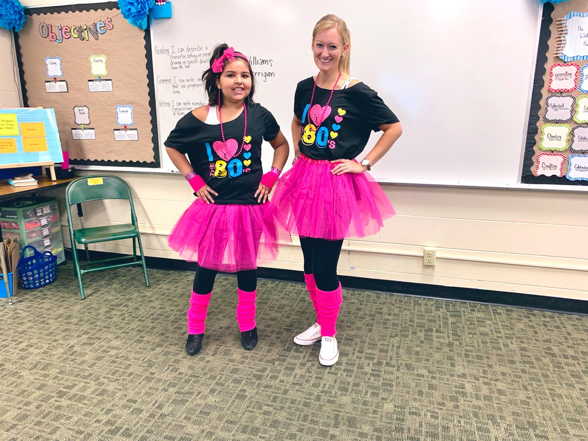 We had a crazy 80s day today! Tomorrow is green and white day! #YESTigers180 #LogansLearners