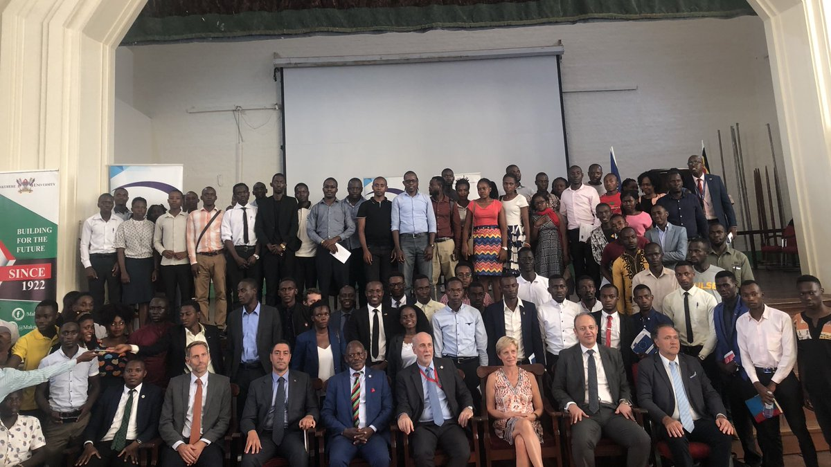 Thank you for participating in the #DemocracyDay debates & celebration. Let's keep the conversation going on our social media platforms. Group Photo of the @EUinUG Head of Delegation HE.  @APacificiEU other Ambassadors, Diplomatic dignitaries from Europe & Youth Leaders.