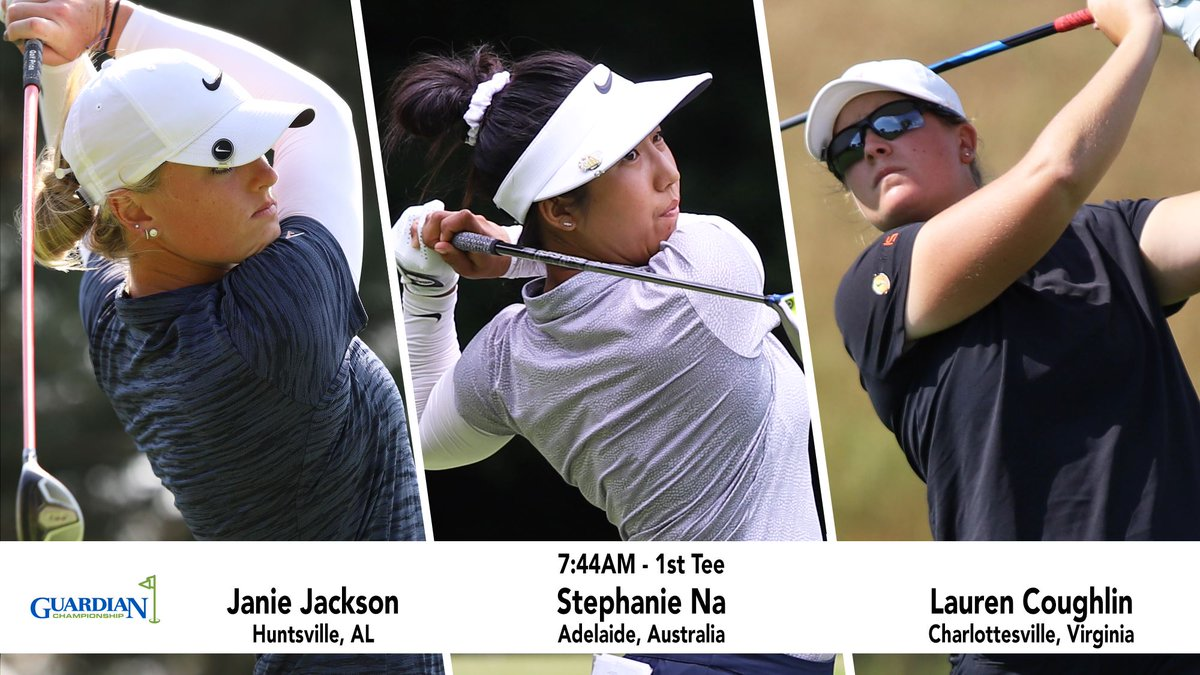 Looking forward to strolling the fairways with these ladies in a #FeaturedGroup for the @Guardian_Champ 😁 #Road2LPGA #GuardianChamp