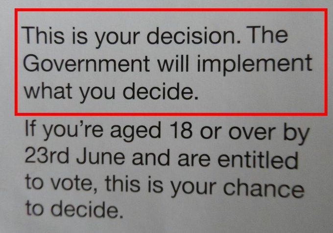 Yes, the British govt. (which didn't think people would approve Brexit) distributed flyers urging people to vote. But when they voted the wrong way, most govt. figures set about blocking the implementing of Brexit, instead. Watch @FullMeasureNews Sunday