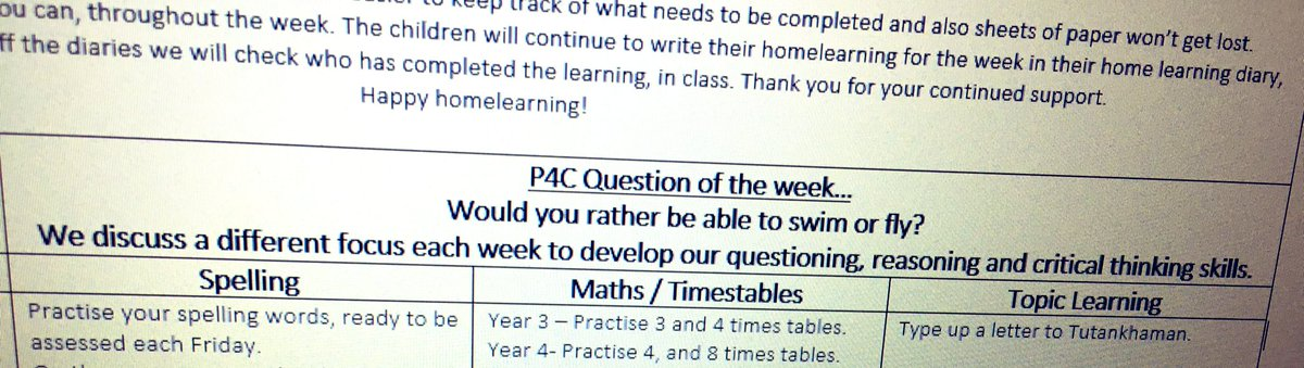 Inviting parents to have an understanding of our P4C sessions. Added to the home learning outline! 👍 @SAPERE_P4C