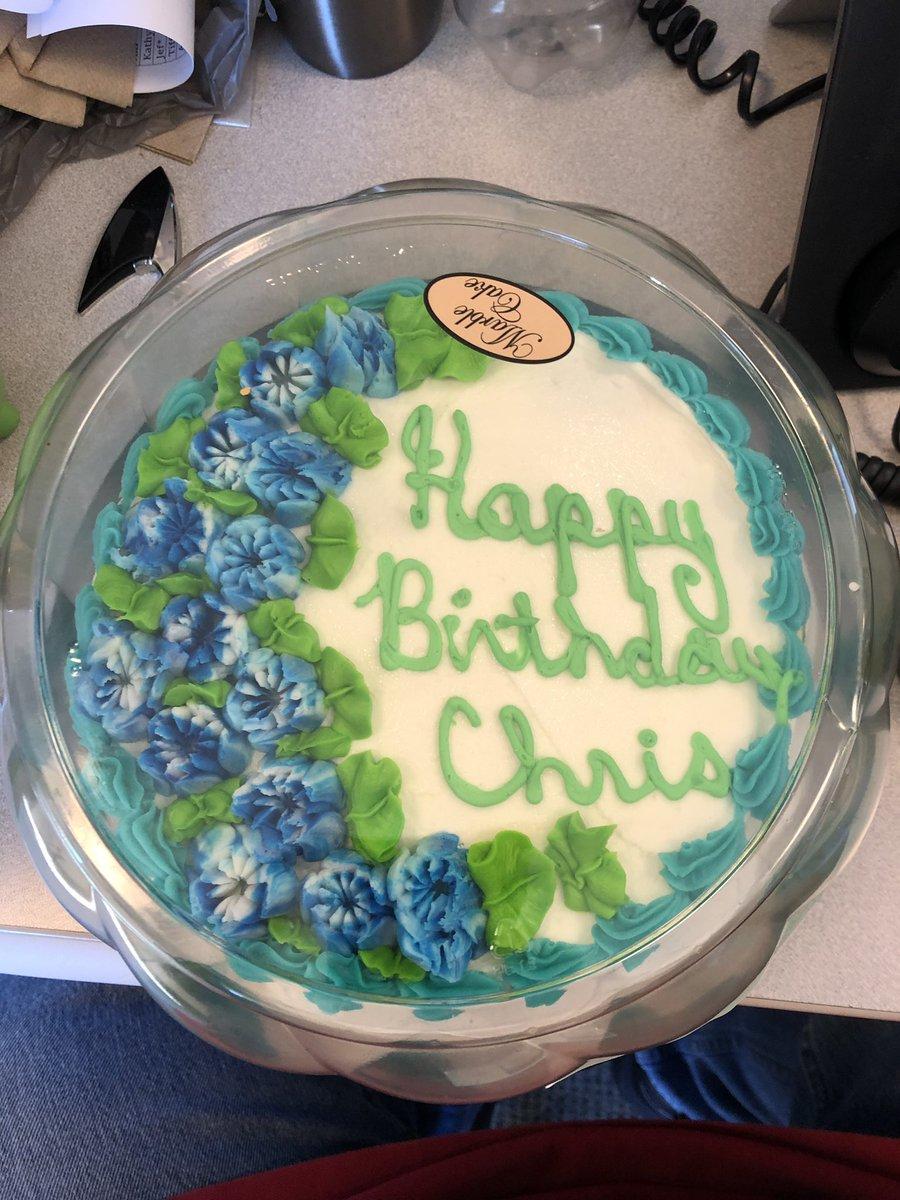 Enjoyable Chris Teeter On Twitter My Coworkers Got Me A Birthday Cake Personalised Birthday Cards Sponlily Jamesorg