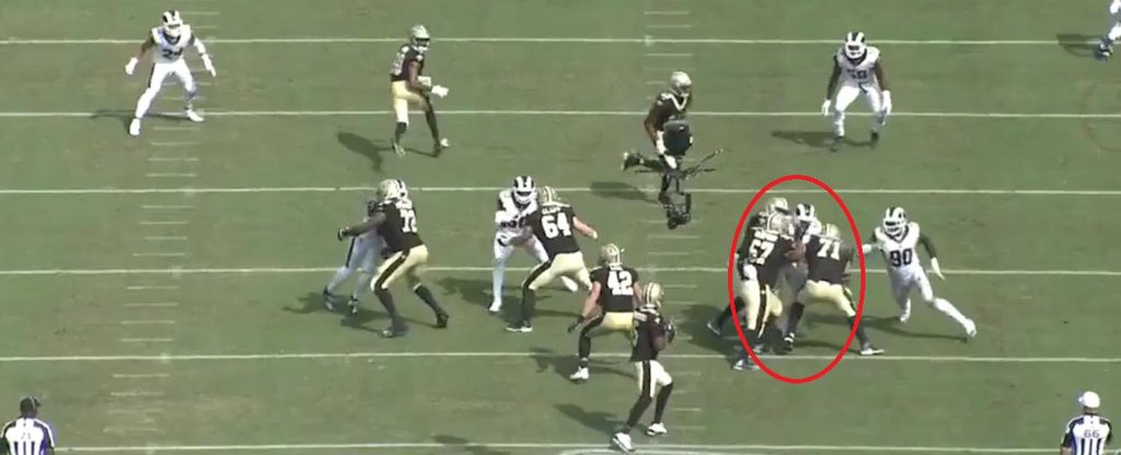@SBNation Yes he is. This picture explains why too. Name another defensive lineman get triple teamed on the regular.