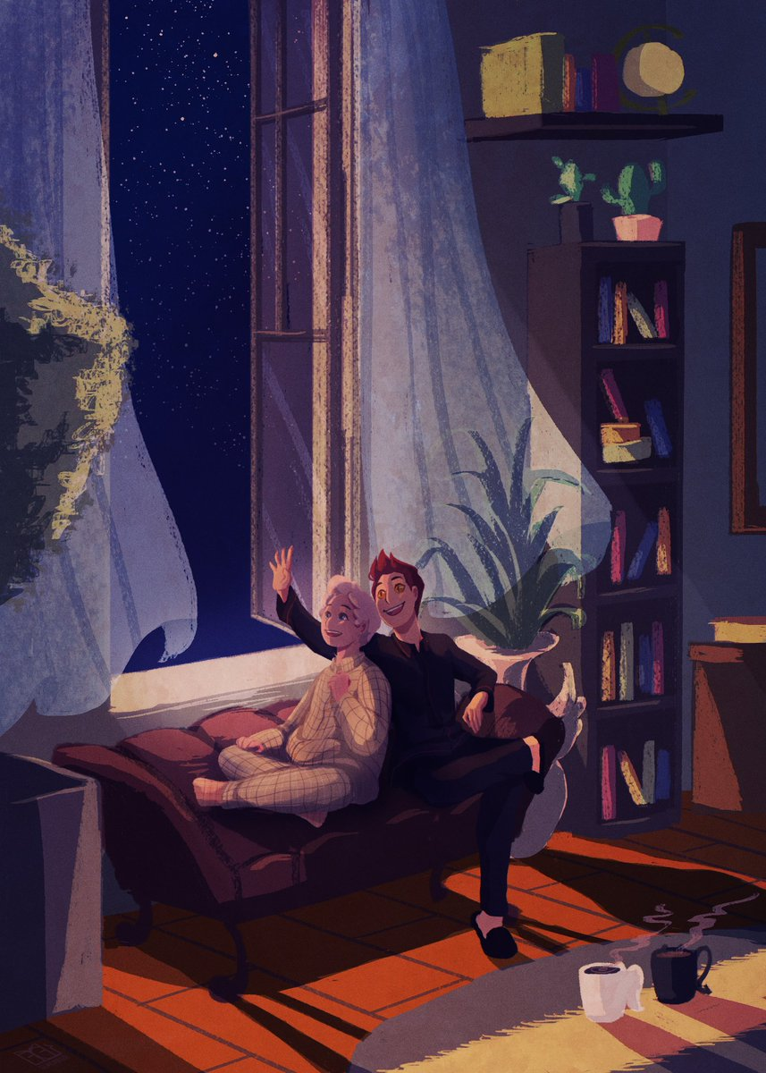 And I've been looking at the stars for a long, long time   #GoodOmens #GoodOmensFanArt<br>http://pic.twitter.com/wujfQNKFPv