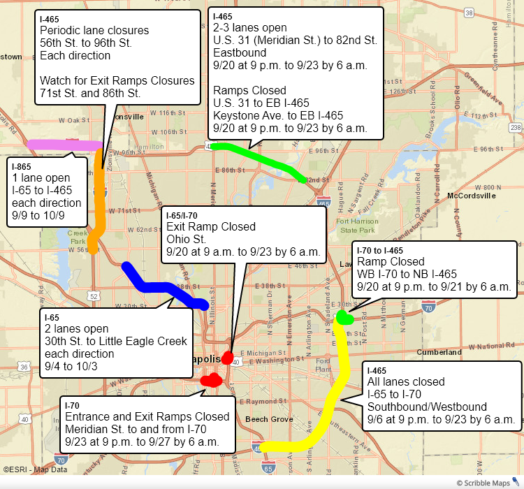 Police and INDOT say be sure to slow down and plan ahead! Heres your updated list of active construction projects around Marion County this weekend: via.fox59.com/MNQ9v