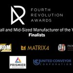 Image for the Tweet beginning: .@4RevAwards Small and Mid-Sized #Manufacturer
