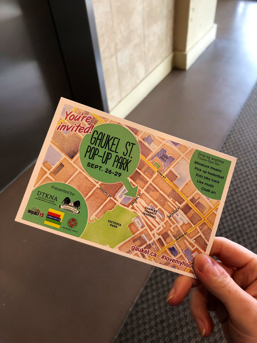 Look what I found in my mailbox today! Will I see you at the Gaukel St pop-up park next weekend? #lovemyhood pic.twitter.com/3DyqHjhJ0P