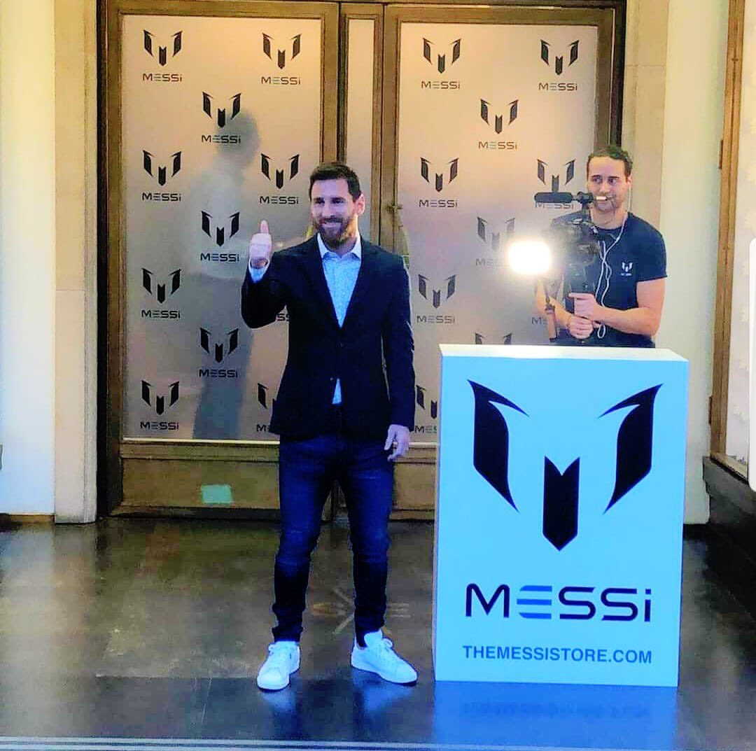 Messi officially launches The Messi Store ℹ in Barcelona.#FIFA#FOOTBALL