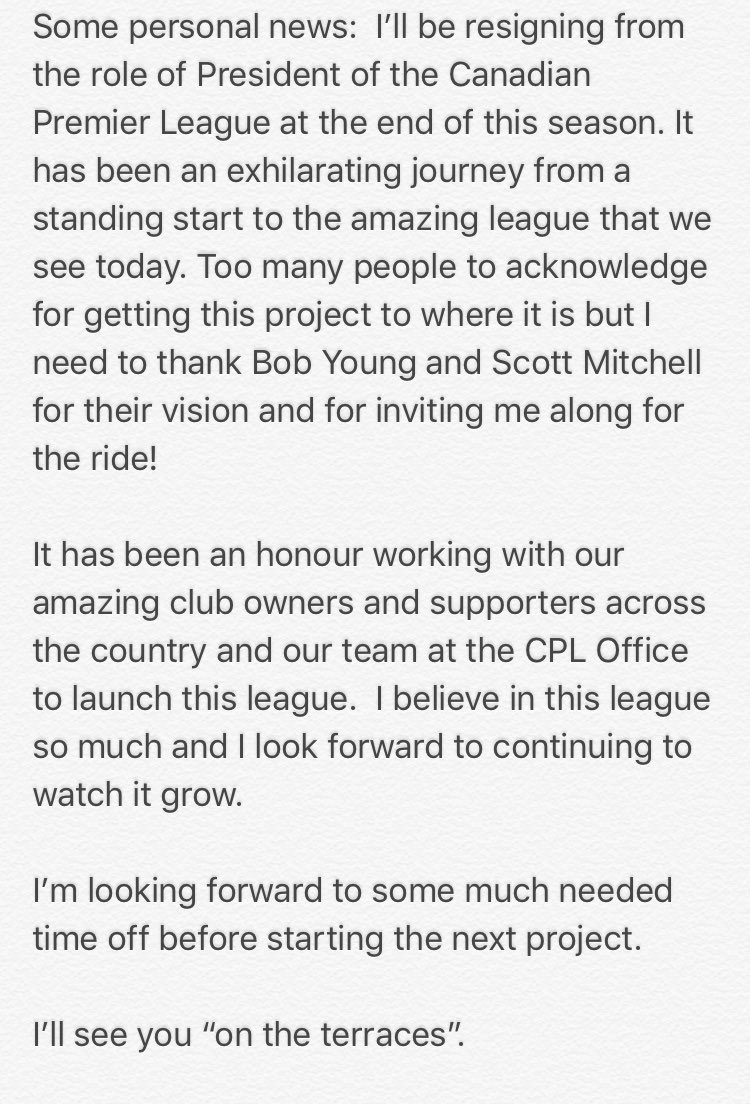 test Twitter Media - RT @Paulbeirne: Some exciting personal news to share... ❤️🇨🇦⚽️ https://t.co/Y2SIFhfQ9u