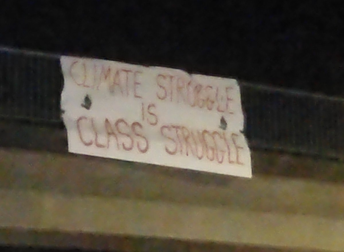 Couldnt agree more with this random banner we happened to pass #EarthStrike #YouthStrike4Climate #GlobalClimateStrike