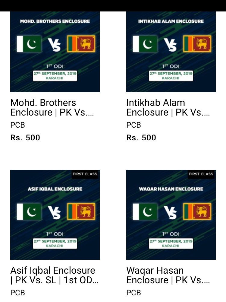 Online sales of tickets have been http://started.SL govt have gave Green Signals for the Pakistan Tour now Matches are ConfirmedNow it's our Duty to go and fill Stadiums to get more attention.#CRICKET