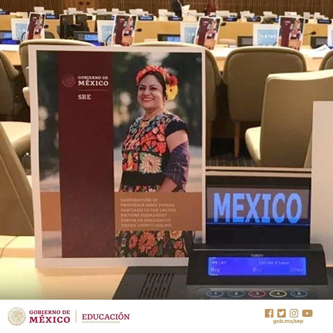 #SEP_Reconoce a la profesora Irma Pineda del @UPN_MX #Oaxaca, electa como miembro del Foro Permanente Sobre Cuestiones Indígenas de la ONU, el objetivo es posicionar el tema indígena en todas las acciones que ejerzan las Naciones Unidas Conoce más en: http://bit.ly/2m2uKFu