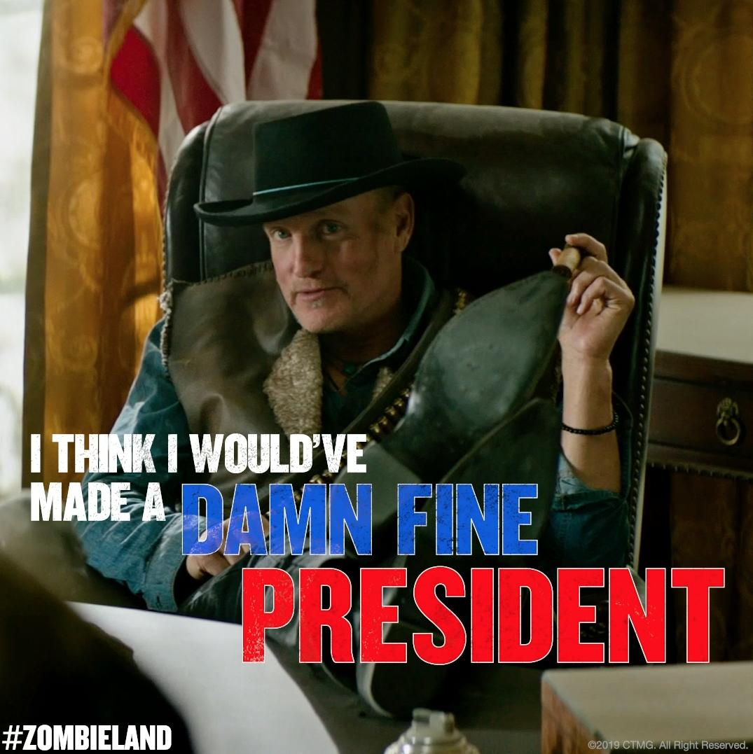 You're welcome, America. #Zombieland 10.18.19