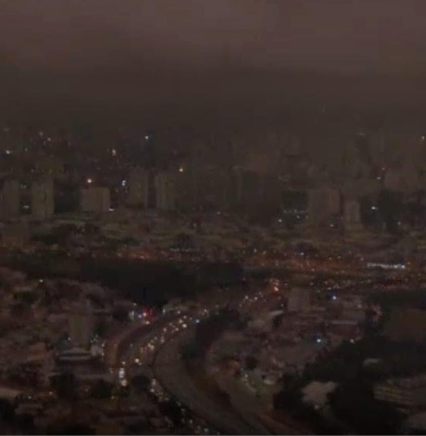 A plume mixed with thick clouds seen in #SaoPaulo at 3 pm on 19th Aug, turning day into night. This is an example of devastating action by humans that will toll life completely from Earth (and the D-day is coming closer every day) #sustainability #amazonrainforestfire