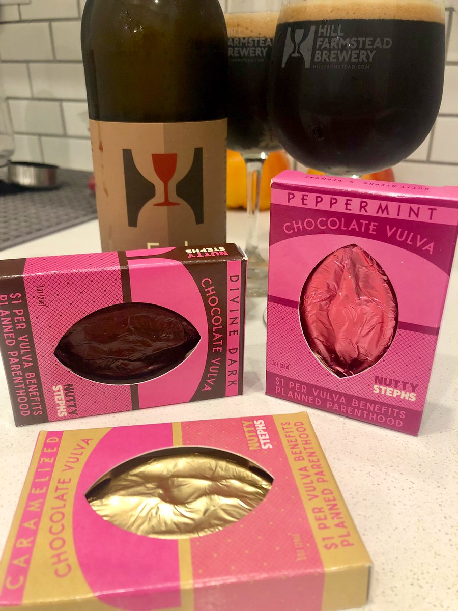 I went to #Vermont and bought #beer and chocolate vulvas, obviously!  @NuttyStephs #CraftBeer #VTbeer #Vulvalution pic.twitter.com/kW5jzCsFZ1