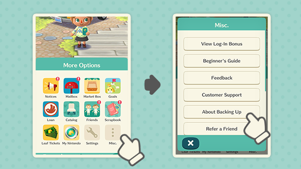 When you link your Nintendo Account to Animal Crossing: Pocket Camp, you can carry over your save data if you switch to a new smart device. Its always better to play it safe and back up your data! Check out About Backing Up under More Options for more information.