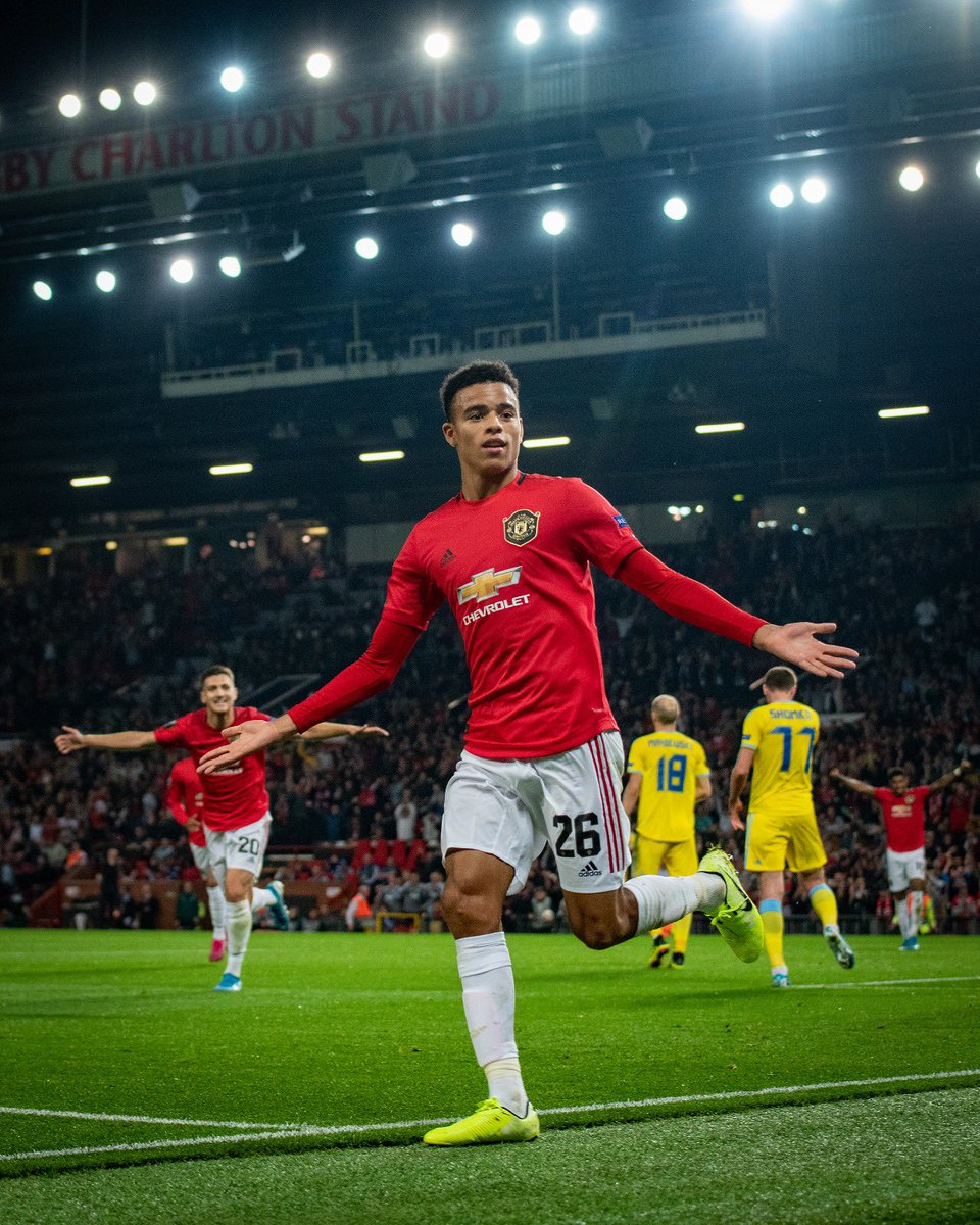 Happy to score my first competitive goal for @ManUtd #3Points #26