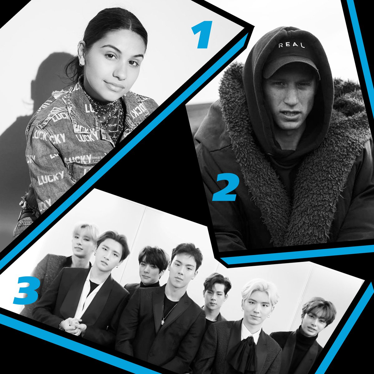 Heres Thursdays #RDTop3! 1. @alessiacara #RootingForYou 2. @nfrealmusic #Time 3. @OfficialMonstaX #WHODOULOVE? (f. @FrencHMonTanA)