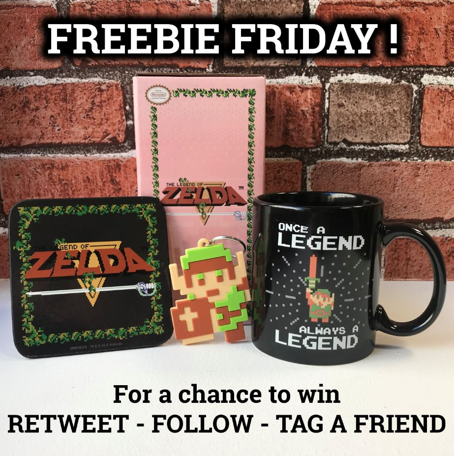 #FREEBIEFRIDAY! Today we're giving away this #TheLegendofZelda Retro Gift Set! To enter RETWEET this, FOLLOW us & TAG a friend  Enter on FB & IG for a higher chance of winning Closes at 23:59 tonight!  #Zelda  merch  http:// emp.me/1eOV       T&Cs on our FB #competition <br>http://pic.twitter.com/xDXeoX9mRi