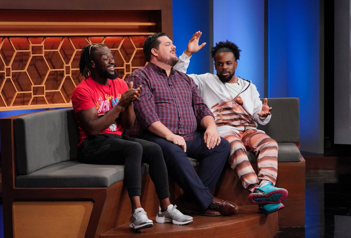 Caption this pic...Then tune in & find out what REALLY went down! Tomorrow 9/20 see myself & @XavierWoodsPhD take on @WWEApollo & @AliWWE on @25wordsorlesstv! We're trying to win $10,000 for our teammate 🤑Go tohttp://25words.com for local listings#wwe #25wordsorlesstv