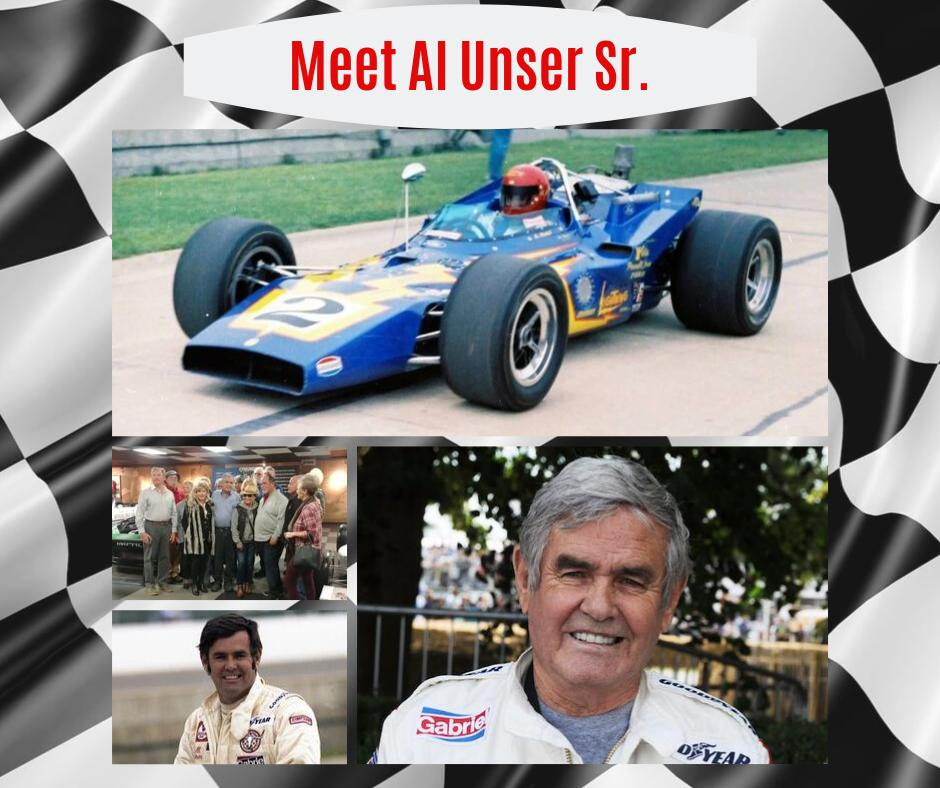 #AlUnserSr. will be visiting with fans and autographing your favorite memorabilia. Visit the #UnserRacingMuseum during the #BalloonFiesta to meet NMs racing legend. #unsermuseum #indyracing #abq #indy500 #racingmuseum #carmuseum #racinghistory #alunser #ABQLocal #VisitABQ