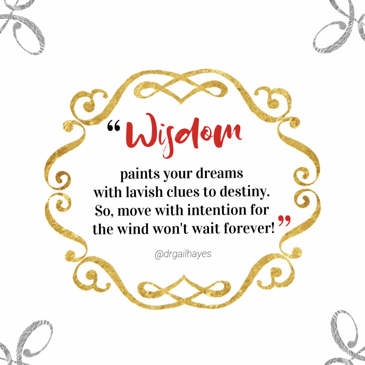 Wisdom! #drgspeaks #handleyourbusinessgirl #wisdomwednesday