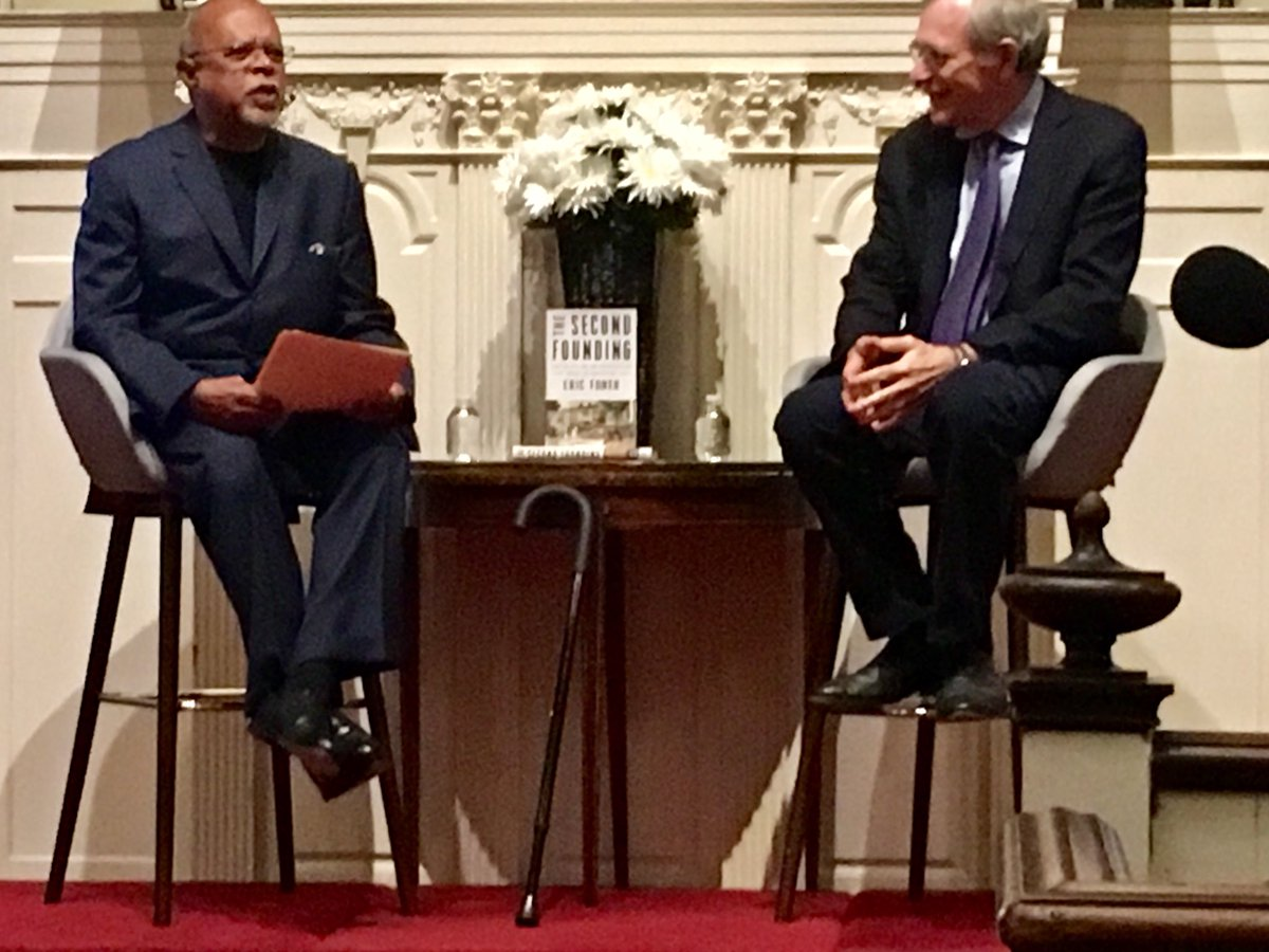 It's a privilege to hear these two towering men-Henry Louis Gates & Eric Foner-talk about constitutional amendments after the Civil War ⁦@HarvardBooks⁩