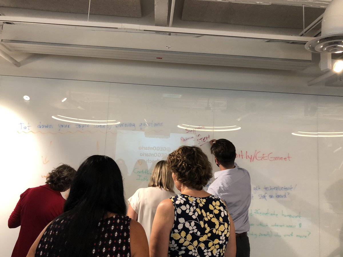 Brainstorming our burning topics @GEGOntario #TOTeach