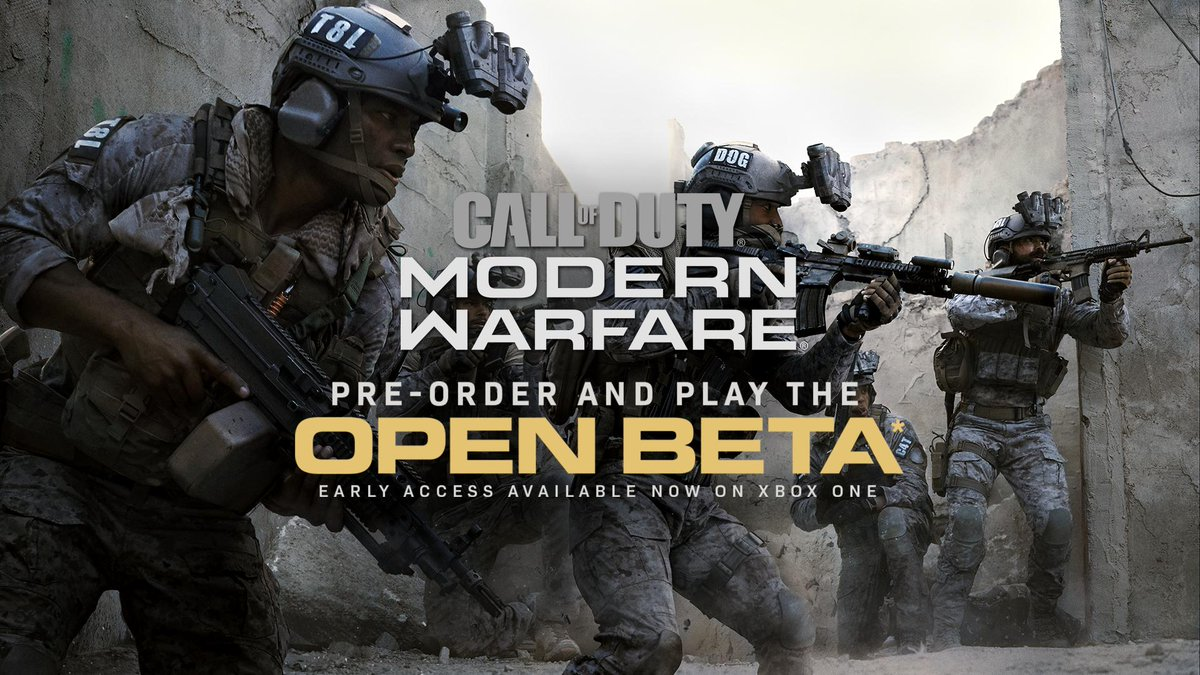 Incoming intel: Call of Duty: Modern Warfare Open Beta Early Access is now available.Pre-order and get early access: https://xbx.lv/2miOVyO