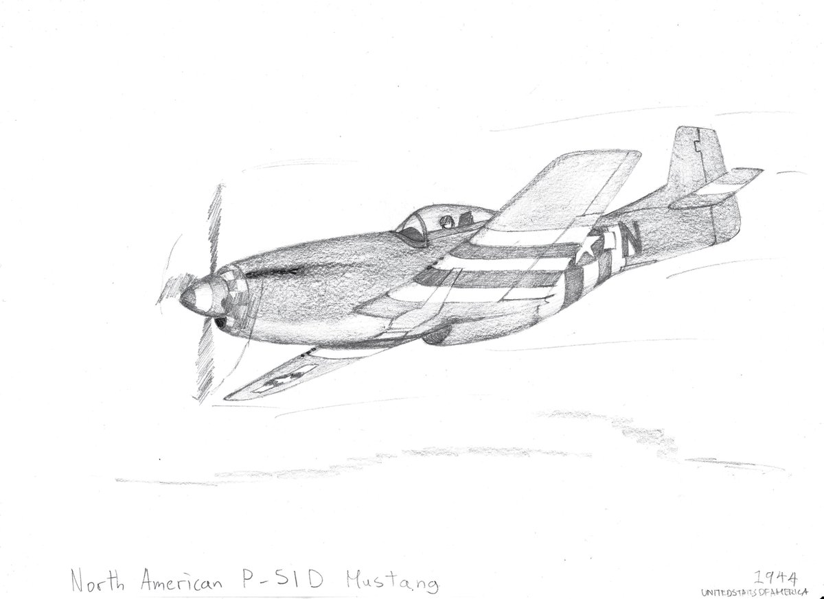 Wwii Aircraft Drawings On Twitter North American P 51d