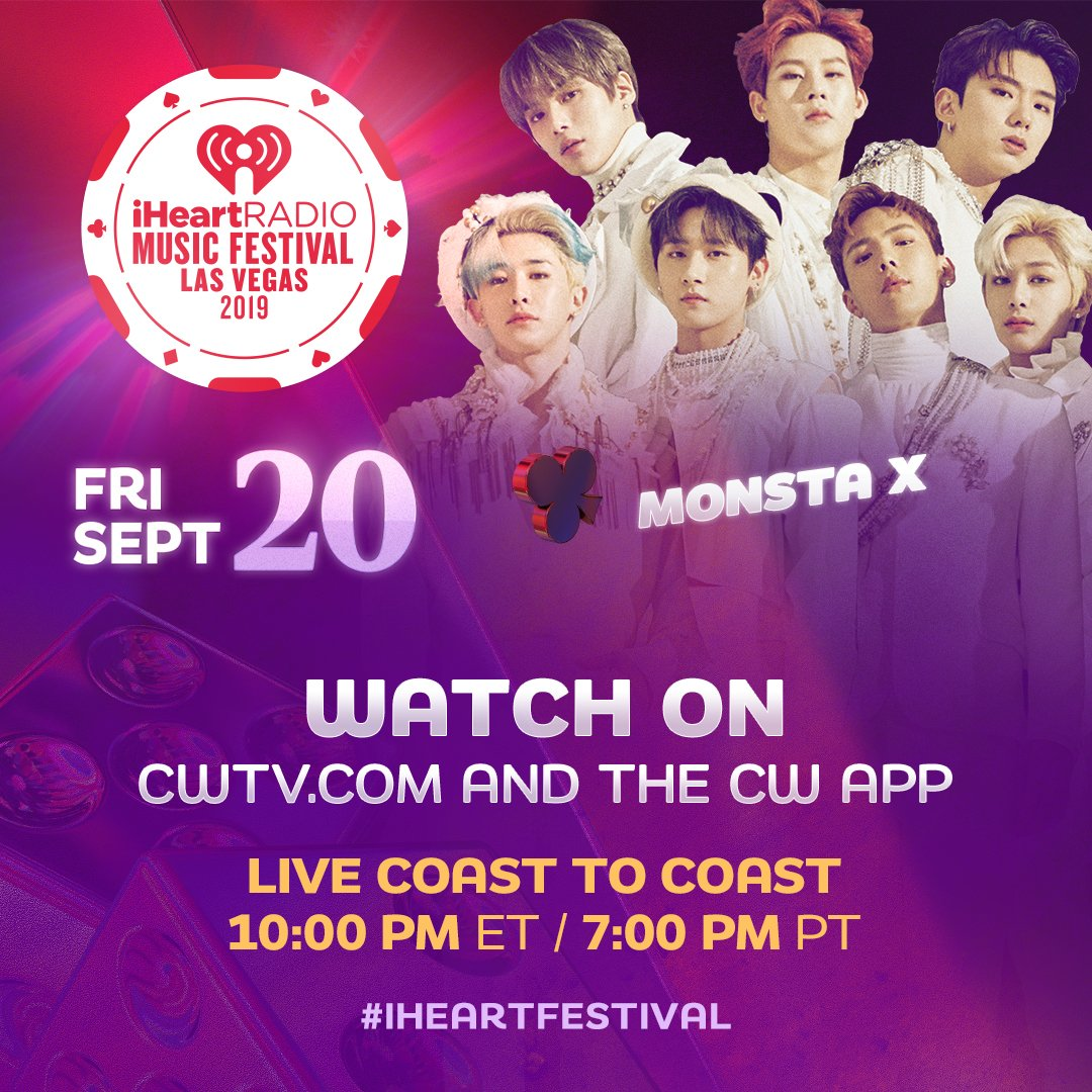 TONIGHT! @OfficialMonstaX will be taking the stage with @steveaoki!   Catch their performance only on @TheCW:  http:// ihr.fm/WatchiHeartFes tival2019   … <br>http://pic.twitter.com/o60RKkftR7