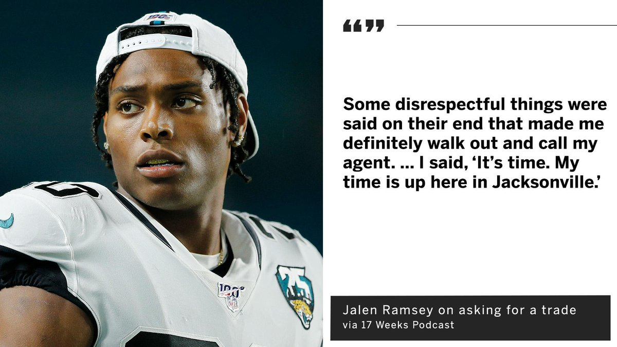 Jalen Ramsey explained why he wants out of Jacksonville ⤵️