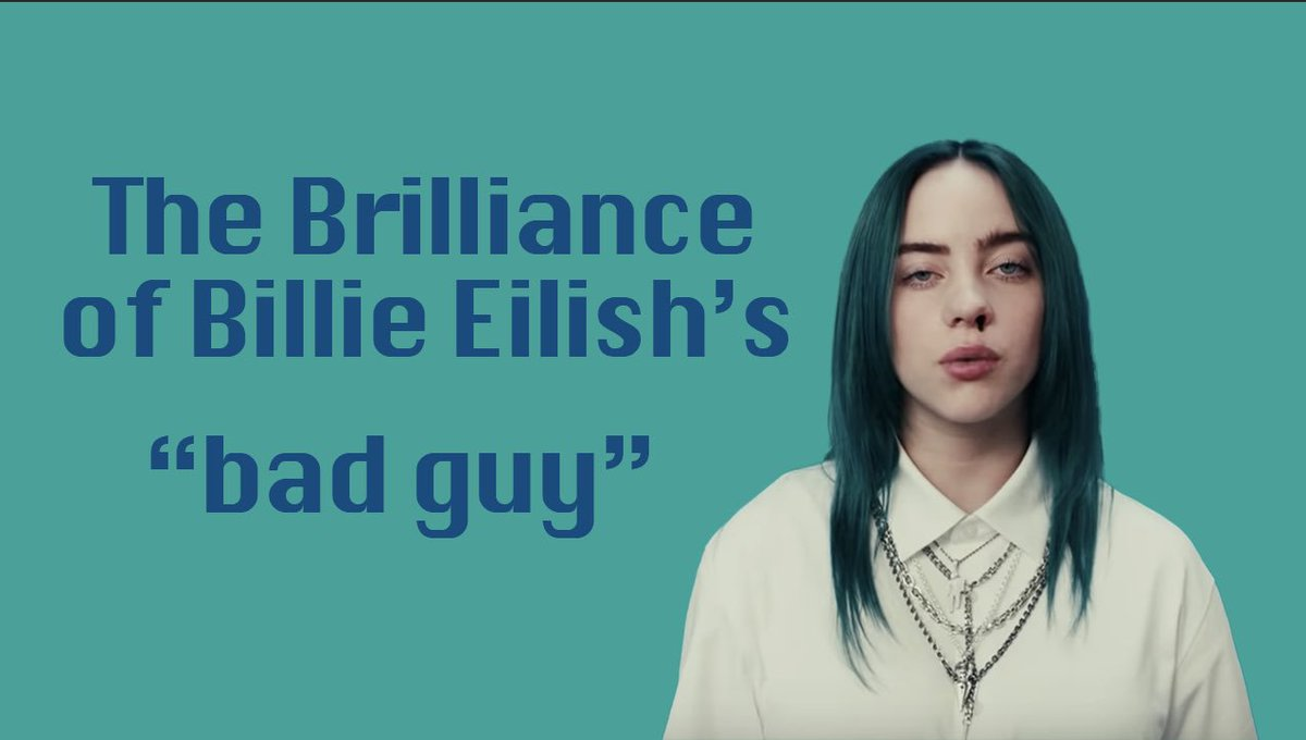"""Check out our NEW video where we see how @billieeilish managed to take """"bad guy"""" to a whole other level with its' unique production, vivid lyricism - and so much more!  https:// youtu.be/ySa7rJXDsI8     [#BillieEilish #badguy] <br>http://pic.twitter.com/spmgFupLwA"""