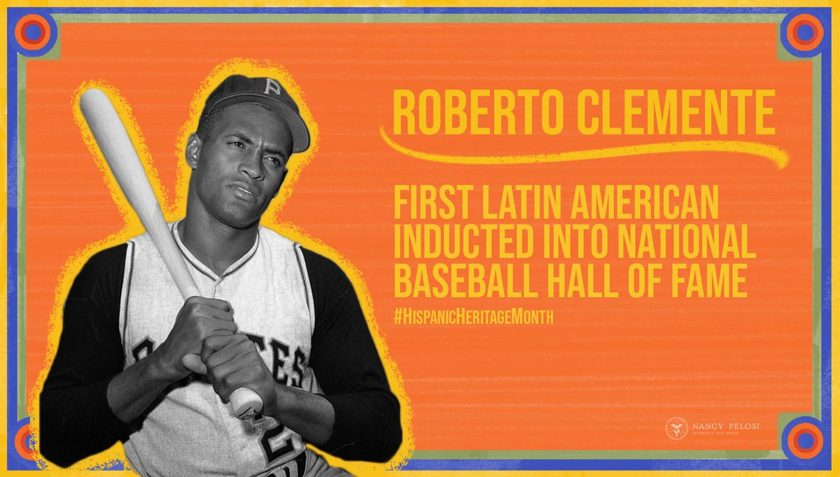 A gifted baseball player, Roberto Clemente was inducted into the National Baseball Hall of Fame in 1973. His passion for helping those in need, including victims of Nicaragua's 1972 catastrophic earthquake, is an inspiration to us all. #HispanicHeritageMonth <br>http://pic.twitter.com/ziqOqPPSYg