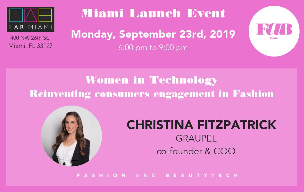 Join the conversation with Christina Fitzpatrick featuring our panel at the #fashion and #beautytech Miami chapter launch event at #thelabmiami. Rush for the last tickets available at eventbrite.com/e/fashion-and-… #womenintechnology #fashionretail #startups #fashiontech #miami