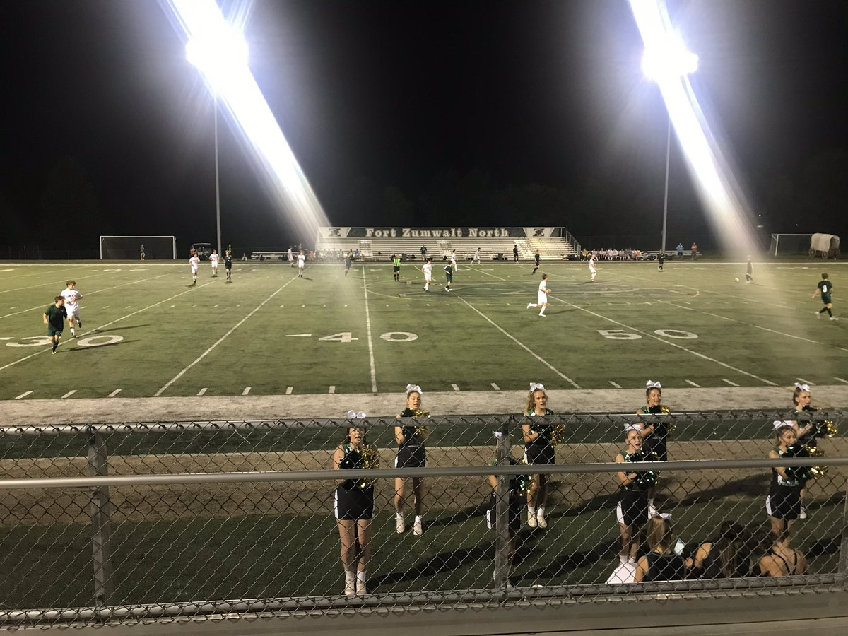 Great night to watch some FZN Soccer and Cheer! #WeTheNorth
