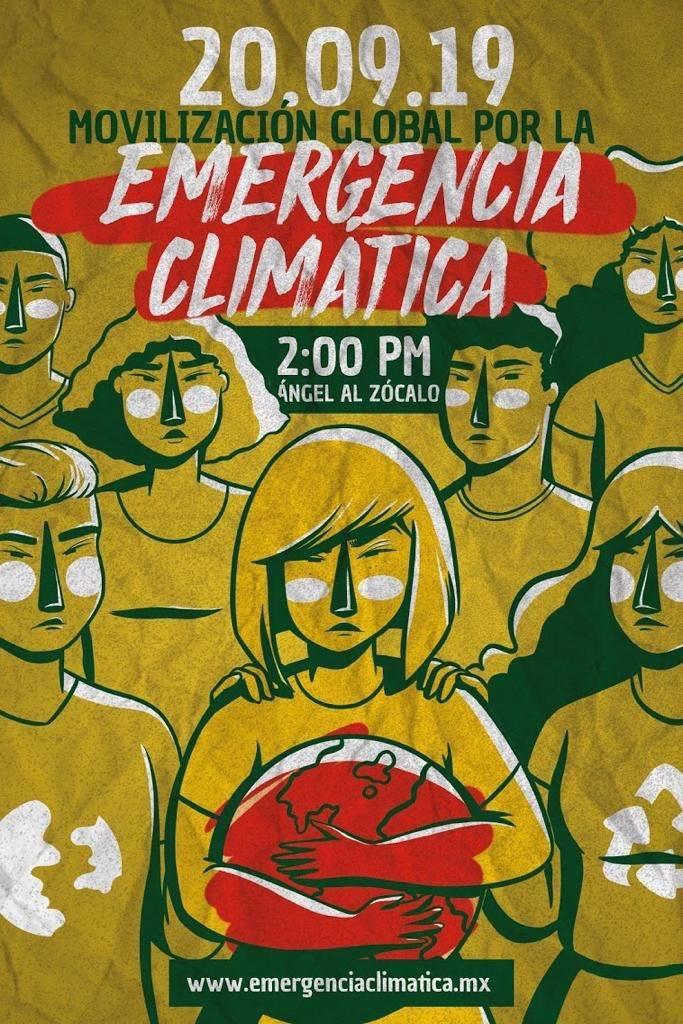Las y los invitamos a unirse mañana a la movilización global para solicitar una declaración de emergencia climática. #cdmx20s #huelgaclimática #fridaysforfuturemx