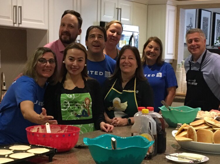 Breakfast for champions! Solutions and Recovery team makes breakfast at the Fisher House as a small gesture to thank families of Veterans. @weareunited @bcstoller_ual @JMRoitman @LouFarinaccio