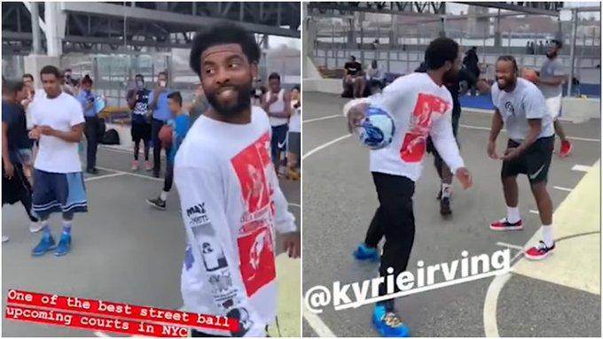 【影片】厄文現身布魯克林街頭,助攻小球迷完成空接